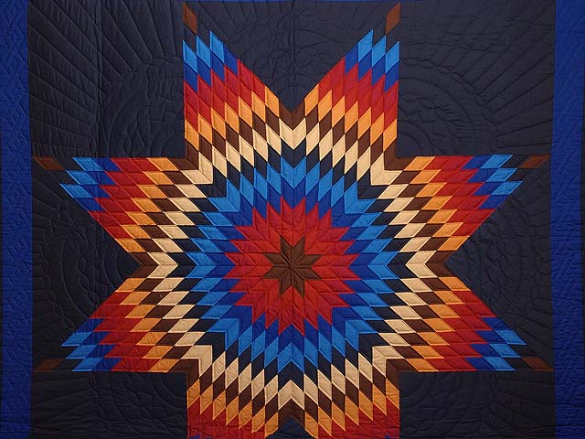 Amish Radiant Lone Star Quilt Photo 3