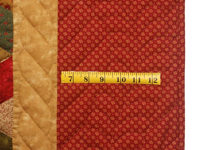 Red Gold and Multicolor Tumbling Blocks Quilt Photo 6