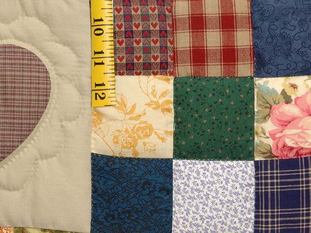King  Multicolor Hearts and Nine Patch Quilt Photo 5