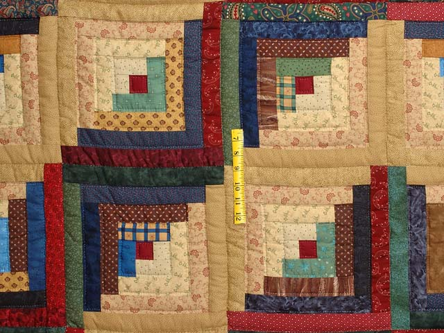 Country Colors Log Cabin Quilt Photo 4
