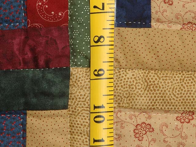 Country Colors Log Cabin Quilt Photo 6