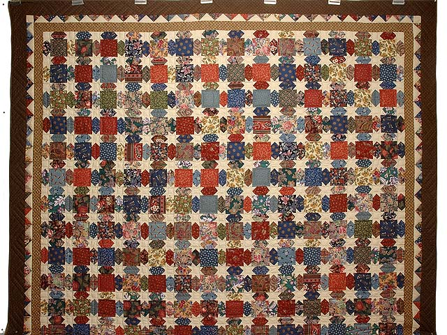 Brown  Gold and Multicolor Starry Path Quilt Photo 2