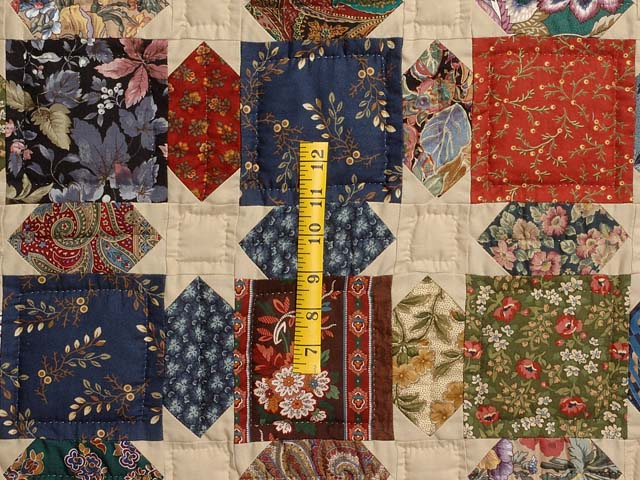Brown  Gold and Multicolor Starry Path Quilt Photo 4