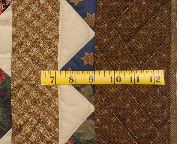 Brown  Gold and Multicolor Starry Path Quilt Photo 6