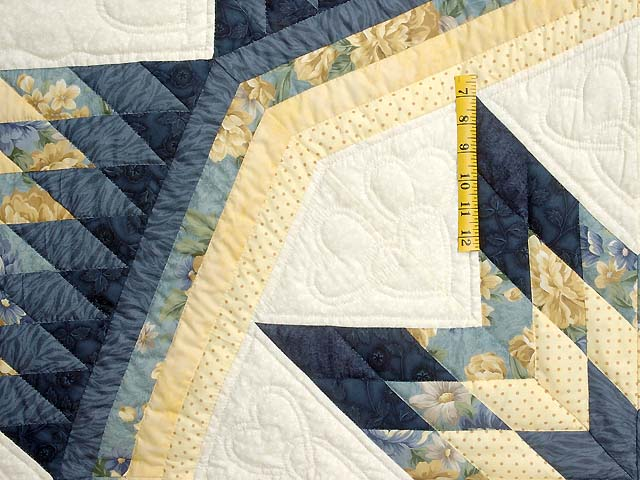 King Navy Blue and Yellow Royal Star of Maryland Quilt Photo 5