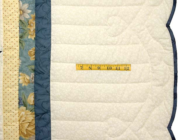 King Navy Blue and Yellow Royal Star of Maryland Quilt Photo 7