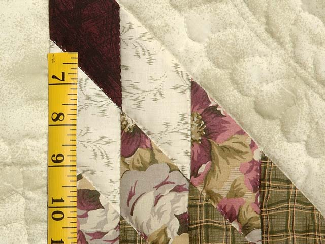 Moss and Purple Lone Star Log Cabin Quilt Photo 5