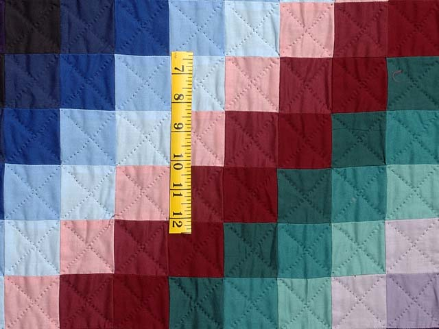 Extra Fine Amish Sunshine And Shadow Quilt Photo 5