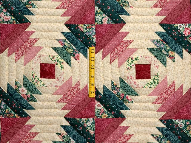 Rose Pink Teal Green Pineapple Quilt Photo 4