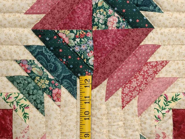 Rose Pink Teal Green Pineapple Quilt Photo 5