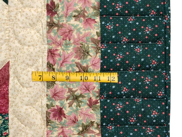 Rose Pink Teal Green Pineapple Quilt Photo 7