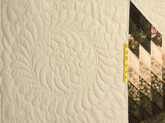 King Dark Green Peach  and Tan Royal Star of Maryland Quilt Photo 5