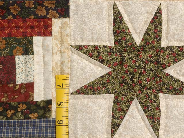 Blue Gold Burgundy and Multi Court Step Stars Quilt Photo 5