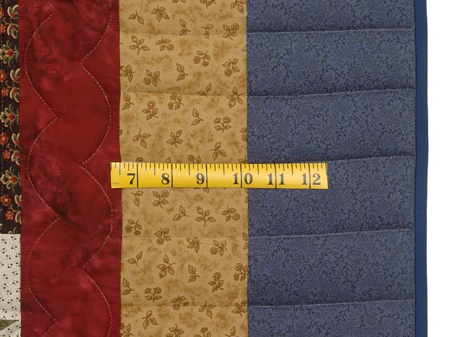 Blue Gold Burgundy and Multi Court Step Stars Quilt Photo 7