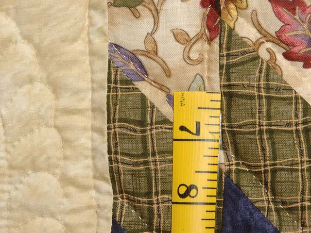 King Navy Burgundy and Multi Lone Star Log Cabin Quilt Photo 6