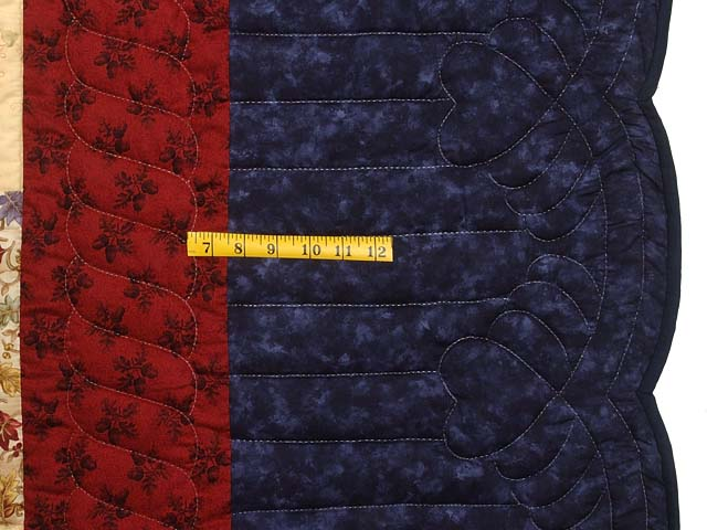King Navy Burgundy and Multi Lone Star Log Cabin Quilt Photo 7