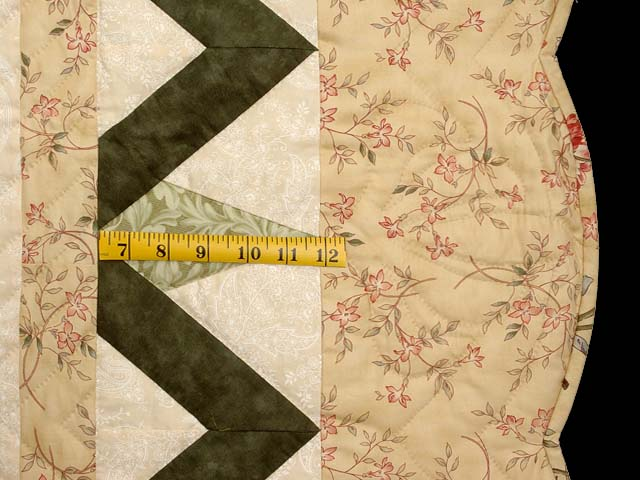 Tan Moss Mint and Burgundy Rainbow Reflections Quilt Photo 7