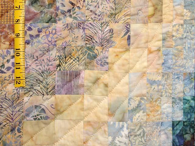 Plum Aqua and Gold Bargello Wave Quilt Photo 6