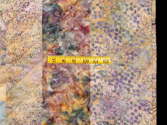 Plum Aqua and Gold Bargello Wave Quilt Photo 7