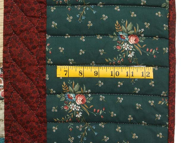 Pine Green Burgundy and Multicolor Hearts and Nine Patch Quilt Photo 6