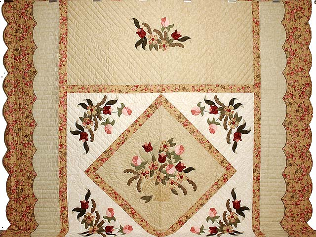 King  Rose and Gold  Spring Basket Quilt Photo 2