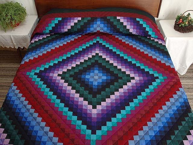 King Amish Sunshine and Shadow Quilt Photo 1