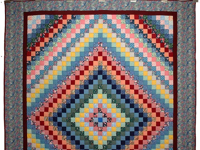 Multicolor Trip Around the World Quilt Photo 2