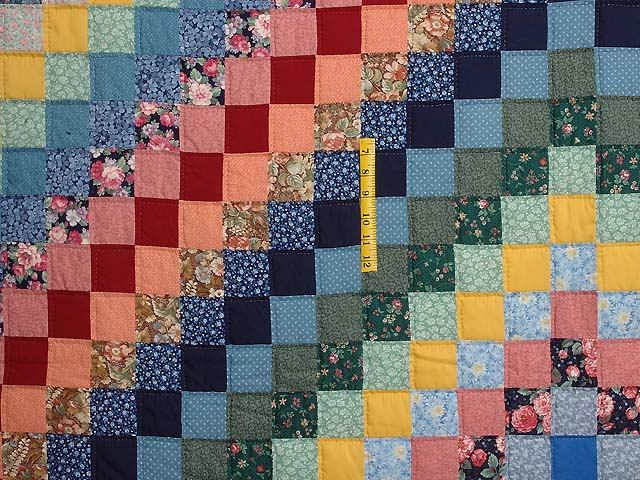 Multicolor Trip Around the World Quilt Photo 4