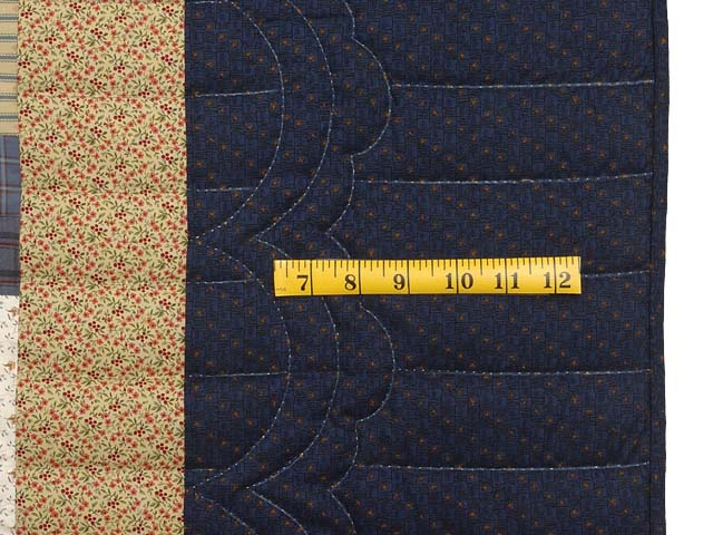 Burgundy Tan and Navy Log Cabin Quilt Photo 6