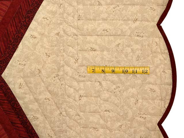 Red and Gold Diamond Star Log Cabin Quilt Photo 7