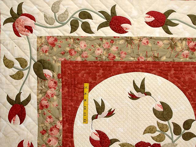 Ivory Sage and Paprika I Promised You a Rose Garden Quilt Photo 4
