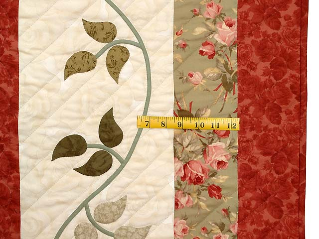 Ivory Sage and Paprika I Promised You a Rose Garden Quilt Photo 7