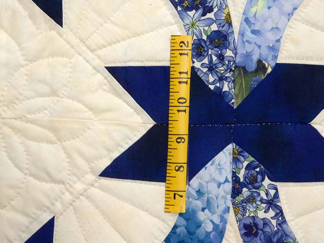 Blue and Yellow Lovers Knot Quilt Photo 5