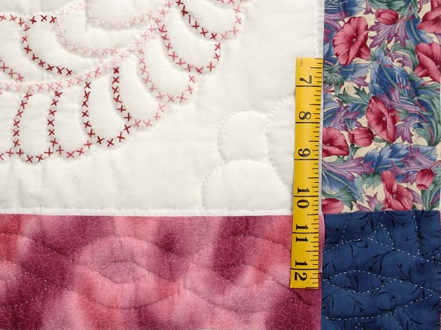 Rose and Blue Cross Stitch Quilt Photo 5