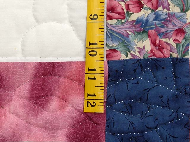 Rose and Blue Cross Stitch Quilt Photo 6