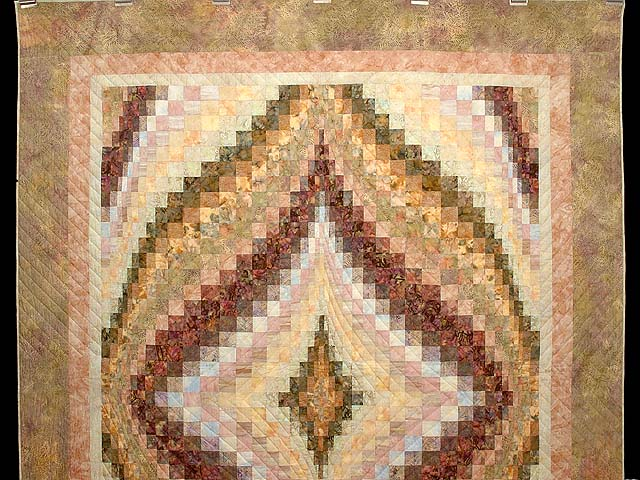 Hand Painted Pastels Diamond Bargello Quilt Photo 2