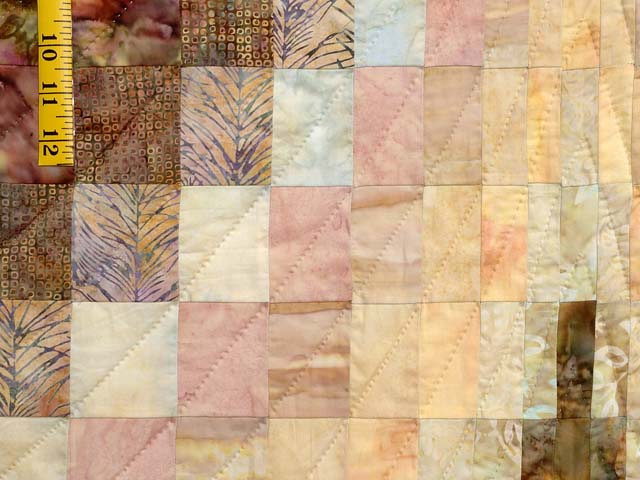 Hand Painted Pastels Diamond Bargello Quilt Photo 6