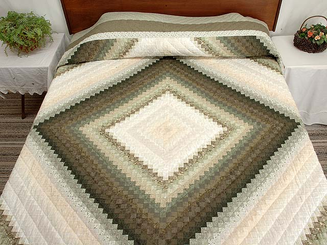 Sage and Neutrals Postage Stamp Quilt Photo 1