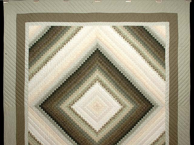 Sage and Neutrals Postage Stamp Quilt Photo 2