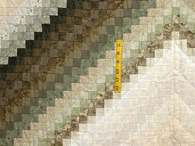 Sage and Neutrals Postage Stamp Quilt Photo 4