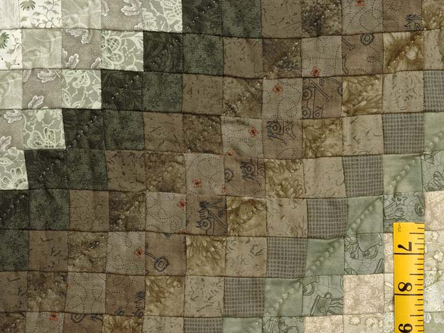 Sage and Neutrals Postage Stamp Quilt Photo 5