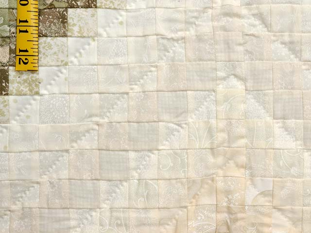 Sage and Neutrals Postage Stamp Quilt Photo 6