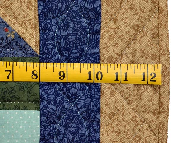 Blue Tan and Multicolor Scrappy Nine Patch Quilt Photo 6