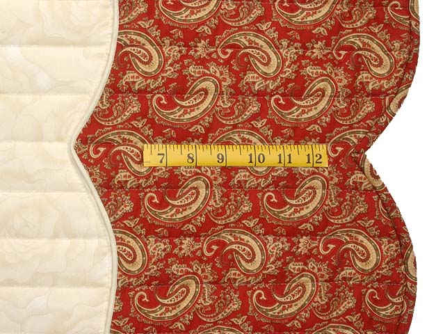 Paisley Red and Gold Spring Basket Quilt Photo 7