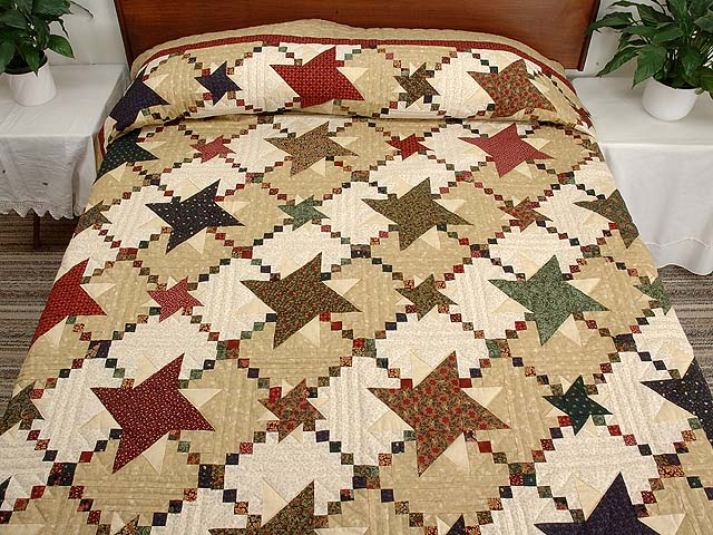 Country Colors Prairie Stars Quilt Photo 1