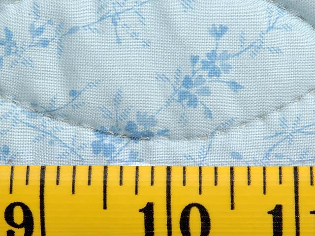 Pastel Blue Rose and Green Dahlia Star Quilt Photo 8