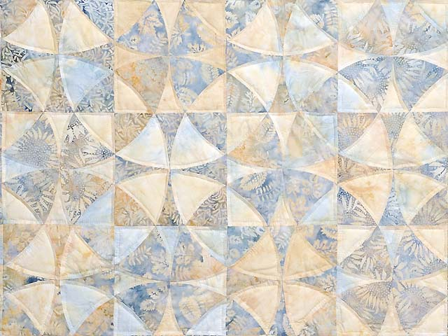 Pastel Blue and Maize Winding Ways Quilt Photo 3