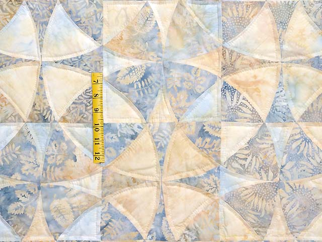 Pastel Blue and Maize Winding Ways Quilt Photo 4