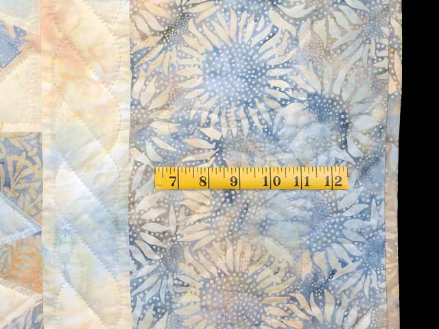 Pastel Blue and Maize Winding Ways Quilt Photo 6