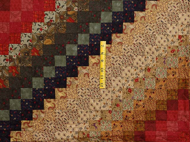 King Gold Brick and Moss Color Splash Quilt Photo 4